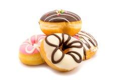 Куча сортированных домодельных вкусных donuts Стоковое Изображение RF