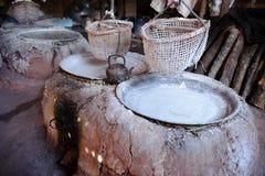 Куча соли на сельском районе Таиланда Стоковая Фотография RF