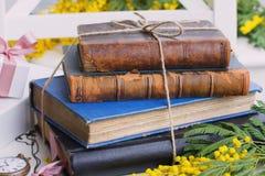Куча старых книг Стоковая Фотография RF