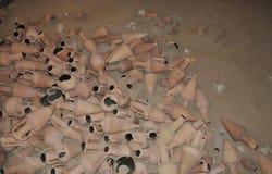 Куча старых amphorae Стоковые Фото