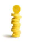 Куча (стог) желтых пилюлек Стоковые Фото