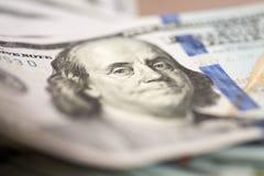 Куча 100 счетов доллара США Стоковое Изображение RF