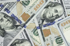 Куча $100 счетов США Стоковое Изображение