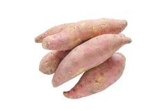Куча сырцового сладкого картофеля изолированного на белой предпосылке Стоковая Фотография RF