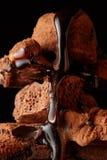 Куча сломленного шоколада частей Стоковое фото RF