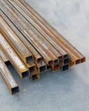 Куча трубок квадрата структурной стали Стоковая Фотография RF