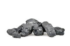 Куча угля изолированная на белизне Стоковое Изображение RF