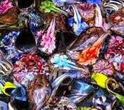 куча украшений флористическая покрашенная Стоковое Фото