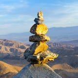 Куча утесов в ландшафте захода солнца пустыни Стоковое Изображение