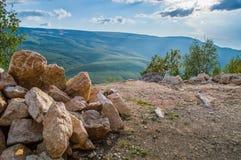 Куча утесов в горах Стоковые Фото