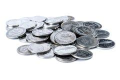 Куча хорватских монеток Стоковое фото RF