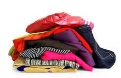 Куча цветастых одежд Стоковые Изображения RF