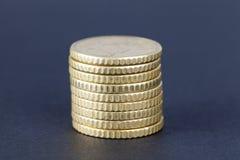 куча центов евро для 50 стоковое фото