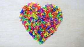 Куча цепей сердца форменных пластичных Стоковые Изображения RF