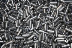 Куча штанги металлов после поворачивать процесс Стоковые Изображения RF