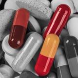 Куча B&W пилюлек медицины Стоковая Фотография RF