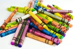 куча crayons Стоковые Изображения RF