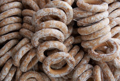 Куча donuts в напудренном сахаре Стоковое Изображение RF