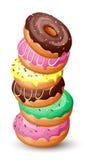 Куча donuts Стоковая Фотография