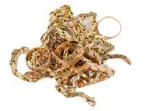 Куча jewellery золота Стоковая Фотография RF