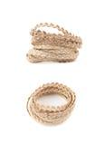 Куча linen изолированной строки веревочки Стоковые Фотографии RF