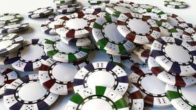 Куча multicolor обломоков или знаков внимания казино перевод 3d Стоковое Изображение RF