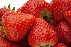 Куча strawberrys на белизне Стоковое Изображение RF