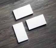 Кучи визитных карточек Стоковое Изображение RF