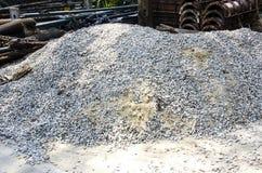 Кучи гравия и песка Стоковое Изображение RF