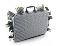 Кучи доллара внутри портфеля иллюстрация 3d иллюстрация штока