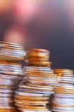 кучи монеток Стоковые Фото