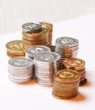 кучи монеток Стоковое Изображение
