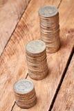 Кучи монеток Стоковые Изображения RF