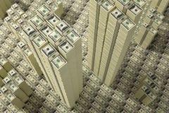 Кучи счетов доллара стоковая фотография rf