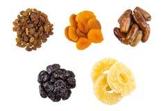 Кучи черносливов, высушенных абрикосов, изюминок, высушенных абрикосов и dat Стоковое Изображение