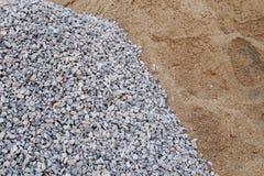 Кучи gravel и зашкурят стоковое фото rf