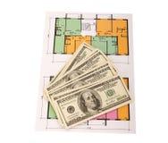 100 куч денег долларовых банкнот на светокопиях Стоковая Фотография RF
