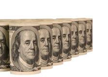 100 куч денег долларовых банкнот Стоковые Изображения RF