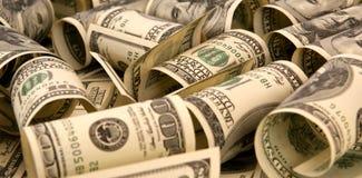 100 куч денег долларовых банкнот Стоковая Фотография