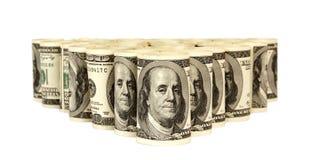100 куч денег долларовых банкнот Стоковое Изображение RF
