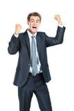 Кулаки бизнесмена бросая Стоковое Фото