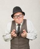 Кулаки расстроенного человека обхватывая Стоковое Изображение