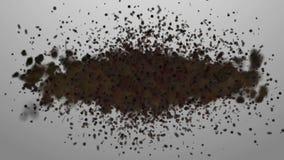 кулига Рой концепций насекомых или случайное движение частиц бесплатная иллюстрация