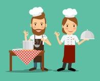 Кулинарный вектор шеф-поваров бесплатная иллюстрация