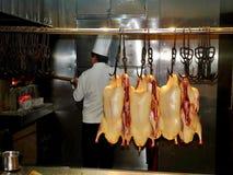 Кулинарный опыт - зажаренная в духовке утка Пекина Стоковая Фотография RF