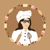 Кулинарный шеф-повар хлебопека Стоковая Фотография RF
