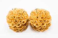 Кудрявое печенье цветения лотоса Десерт Таиланда Стоковые Изображения