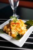 Кудрявое тайское блюдо креветки Стоковое Изображение