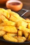 кудрявые fries франчуза Стоковые Фотографии RF