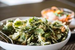 Кудрявый салат лист чая Стоковые Изображения RF